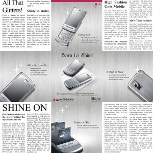 Shine Phone launch. Newspaper Editorial.