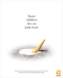 Care World Hunger Campaign print ad